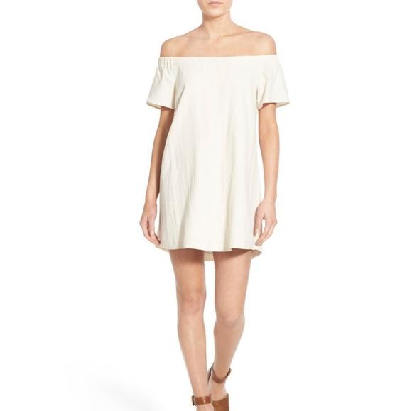 ASTR The Label Valencia Off-the-Shoulder Dress